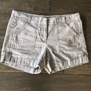 Ann Taylor Signature Gray Cargo Shorts